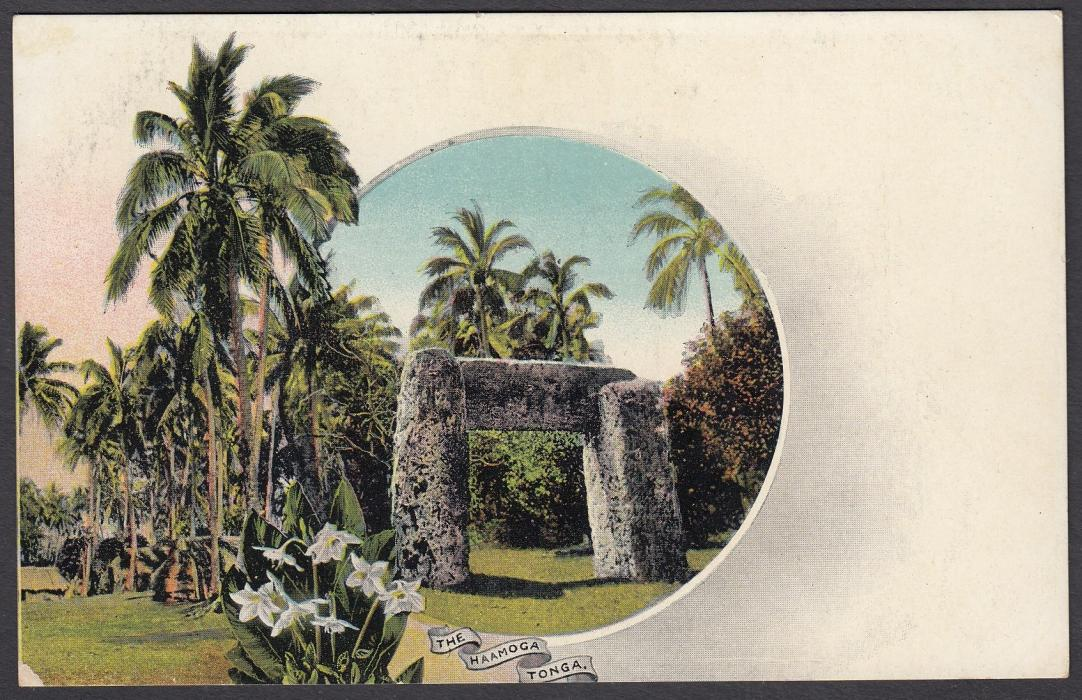 TONGA: (Picture Postal Stationery) 1906 1d. colour picture card The Haamoga; unused.