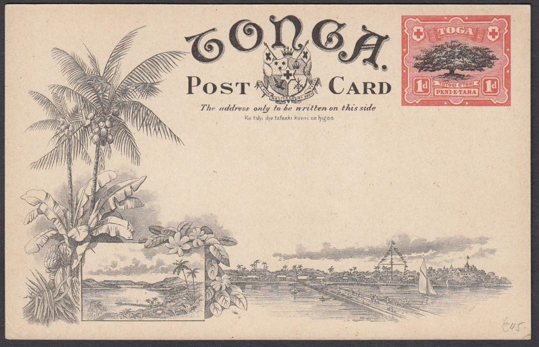 TONGA: (Picture Postal Stationery) 1906 1d. colour picture card The Orange Groves of Tonga; unused.