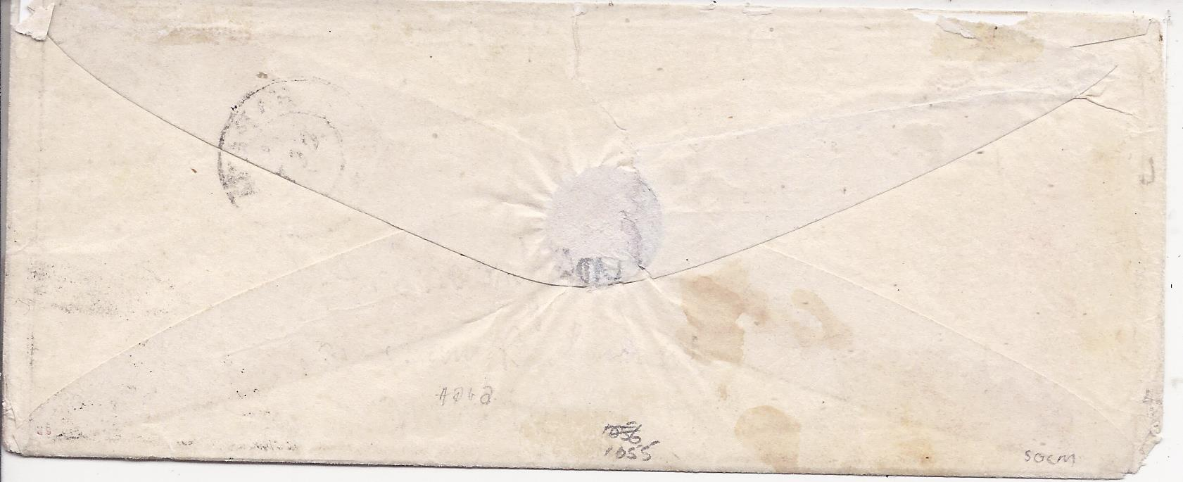 Bahamas (Ship Letter) 1864 incoming cover from Habana, Cuba franked 1r. with bar cancel and cds above and bearing fine example of the very rare SHIP-LETTER/ NASSAU cds, with manuscript �Unclaimed� and handstamped �ADVERTISED�; trivial corner fault to envelope, otherwise fine and attractive example