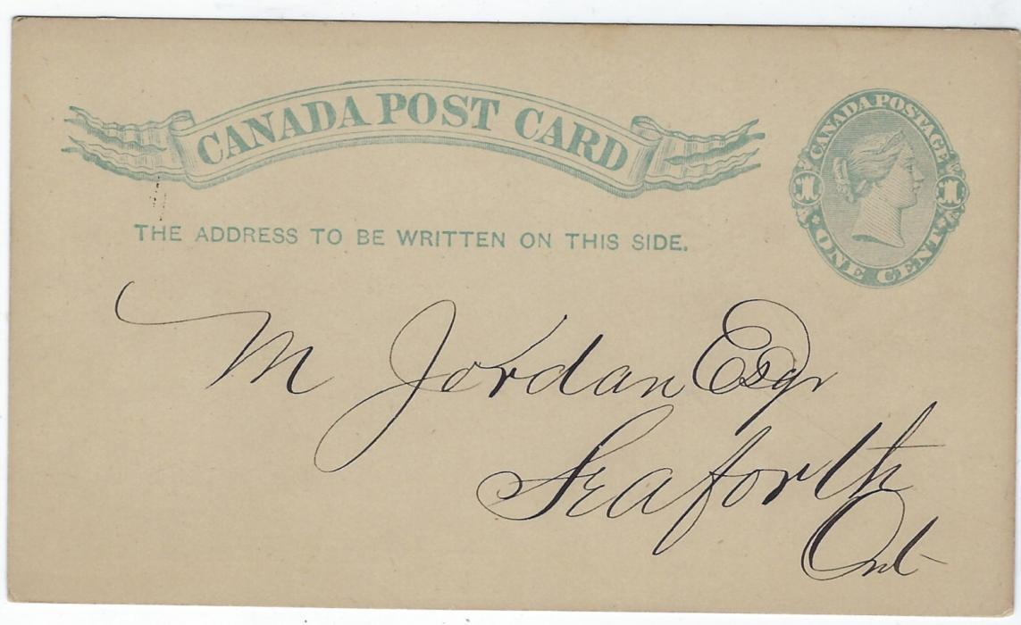 Canada (Advertising Stationery) 1890 1c. card with advert on reverse for D. Richards Soaps with image of a frog on a tandem; fine condition.