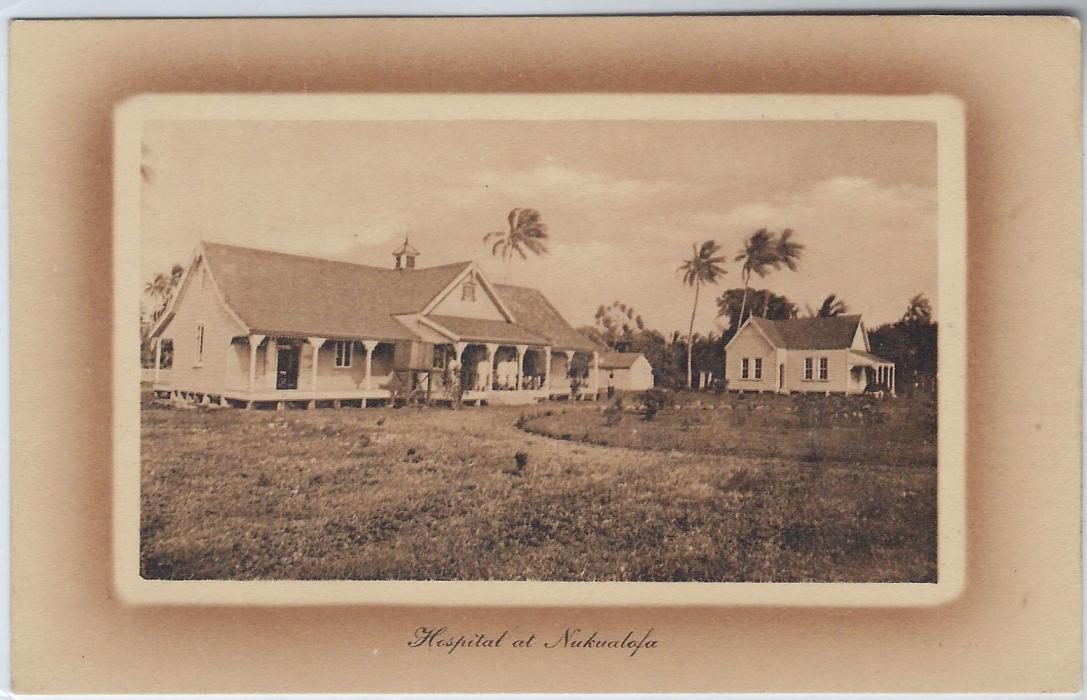 Tonga (Picture Postal Stationery) 1911 1d. card depicting Hospital at Nukualofa, fine unused