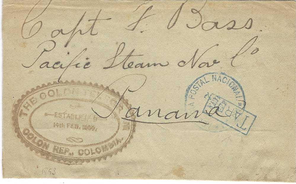 Panama 1893 wrapper used locally to