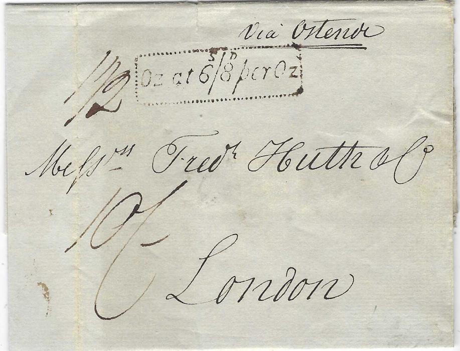 Great Britain 1830 outer letter sheet to London from Hamburg and endorsed