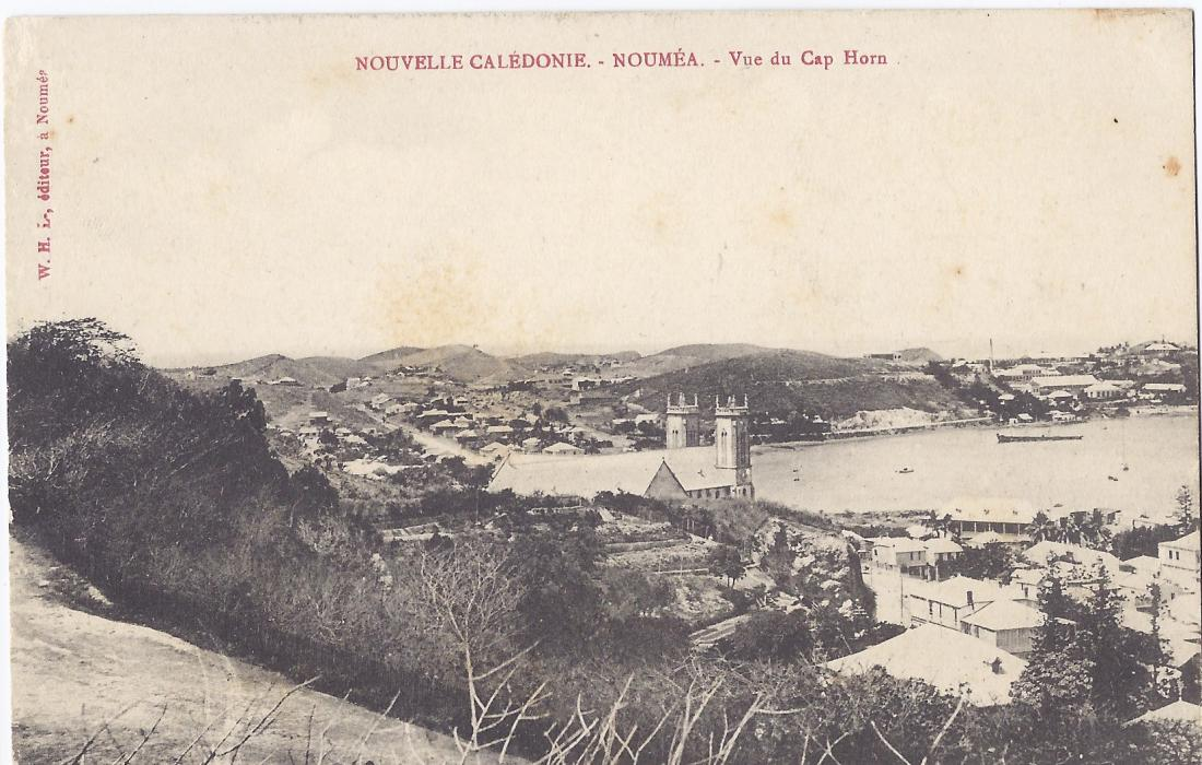 New Caledonia  1900s card entitled Noumea - Vue de Cay Horn unused