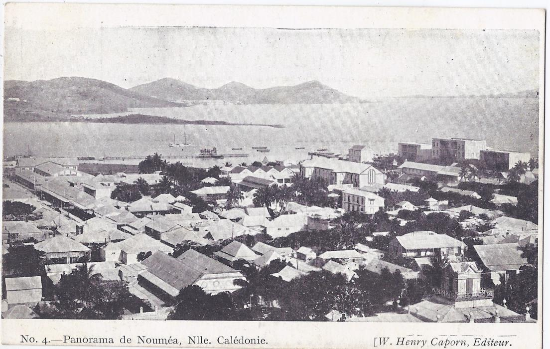 New Caledonia 1900s card entitled No. 4 Panorama de Noumea unused